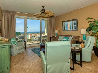 Photo for Beautiful Gulf View, 2 Pools, Direct Beach Access w/ Bch Srv Included