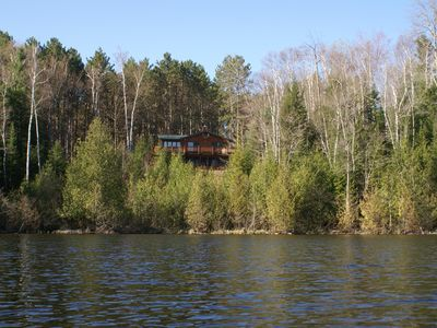 Photo for Private 4 Bedroom Lake Home Nestled on 10+ acres in the Nicolet National Forest