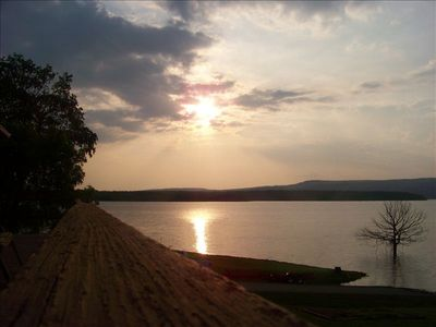 View form deck; best sunsets on lake!