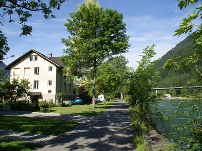 Photo for Holiday apartment Riverholiday Interlaken directly on the Aarefluss near Brienzersee