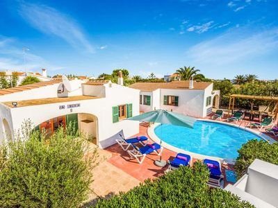 Photo for 6 bedroom Villa, sleeps 10 with Air Con, FREE WiFi and Walk to Beach & Shops