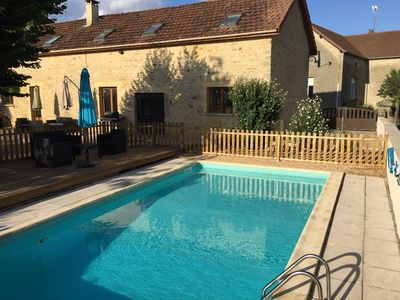 Photo for Rustic style property with own pool and fantastic views - 15 mins from Sarlat