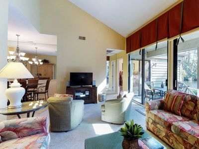 Photo for Comfy condo w/ shared pool, tennis courts, &  deck - close to golf & beaches