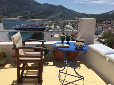 Photo for NEFELI Beautiful house with 360 ° rooftop terrace with sea city and hill views