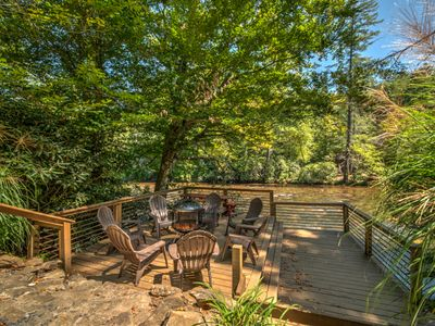 Photo for Toccoa Lookout Cottage- River Front | Sleeps 11 | Fire Pit