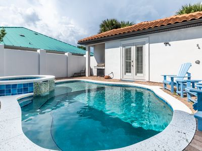 Photo for Heated Private Pool*~ 6 Seater Golf Cart~ Newly Renovated - CAVU Caye Beach Home at D