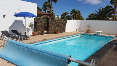 Photo for Private villa secluded heated pool close to beach & restaurants English tv/wifi