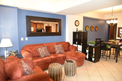 Living Room with Queen sofa pull out