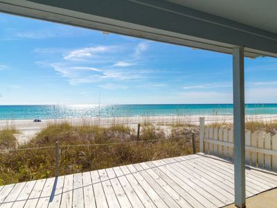 Photo for Paradise30A ~ One Step, Newly Remodeled, Beach Front, 2 Bikes & 1 Beach Chair Set-Up Included!