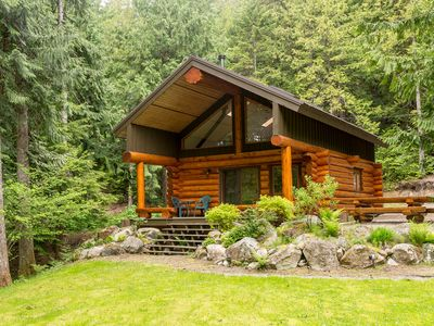 Photo for Lakefront Private Log Cabin, close to Pemberton - The Hummingbird