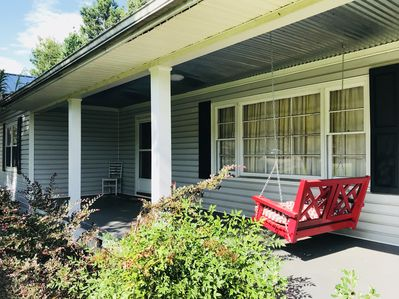 Enjoy quality time on the front porch swing.