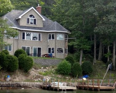 Photo for Lake Winnipesaukee waterfront, family-friendly luxury home with two 8'X32' docks