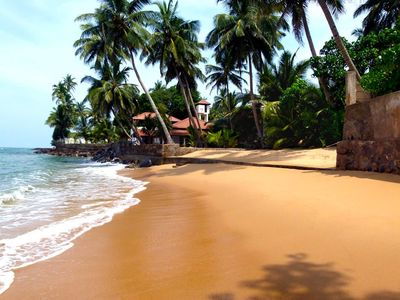 Photo for VILLA WITH PRIVATE BEACH IN A BEAUTIFUL BAY ON THE FAMOUS BERUWALA-BENTOTA COAST