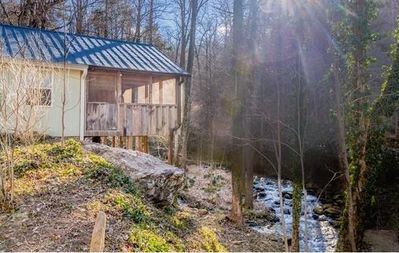 Photo for Creekside Retreat: Simple Cabin Luxury, Spectacular! On the River-Close to Weaverville, Asheville & more!