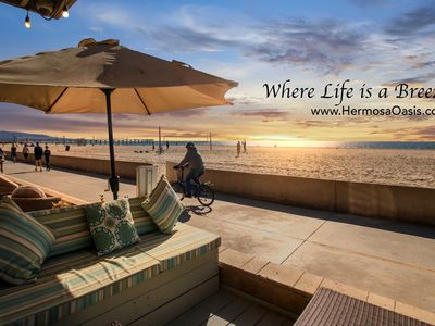 Photo for Hermosa Oasis: Oceanfront Strand Retreat