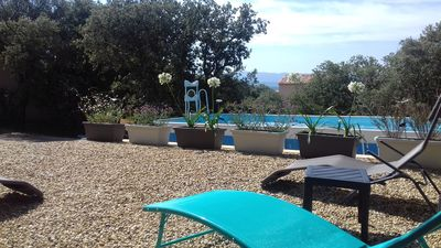 Photo for Character villa with pool in the heart of the Luberon Regional Natural Park.
