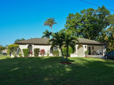 Photo for Lovely Gulf Access Vacation Pool Home with Internet