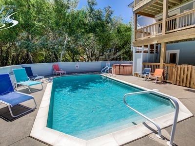 Photo for Duckaway Home | 993 ft from the beach | Private Pool, Hot Tub