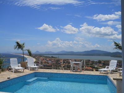 Photo for Casa en Ponta Negra with incredible views of the beach, lake and mountains