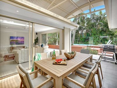 Photo for Sophisticated Sanctuary With Resort Style Pool, Walk to Beach
