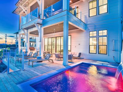 Photo for Private Pool! Gulf Views Right on 30A! Brand New Construction! Golf Cart!