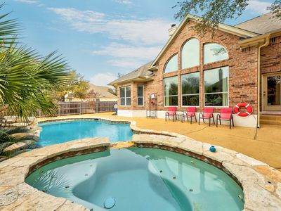 Photo for 4BR/4BA Expansive Austin Home With Lagoon-Like Pool And Hot Tub