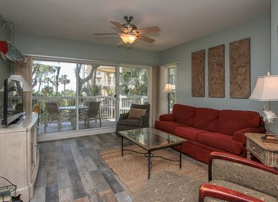 Living Room with Balcony Access at 116 Barrington Court