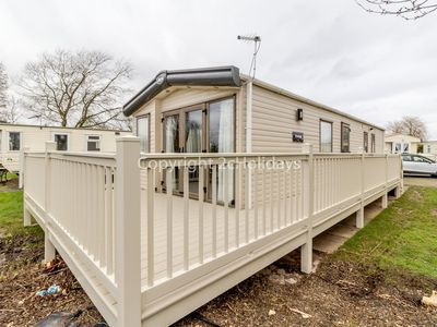 Photo for 6 berth caravan for hire with decking Southview Holiday park Skegness ref 33070S