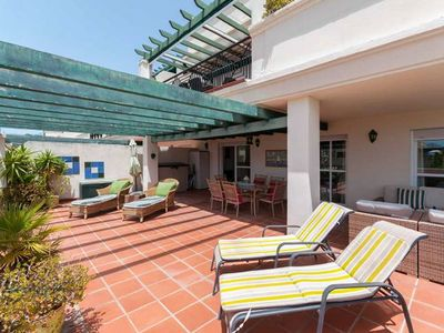 Photo for Apartment Mistral - huge terrace, 3 bed, sleeps 7, walk to Banus, ask for price!