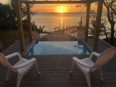 Photo for Green Turtle Cay, on Sea of Abaco - Private Dock, Plunge Pool / Spa, Ice Maker
