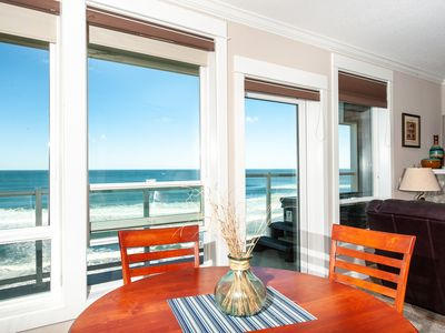 Photo for *Promo!* 3rd Floor Oceanfront Corner Condo, Private Hot Tub, WiFi & Indoor Pool!