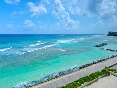 Photo for Centrally located villa with spectacular sunsets and ocean views