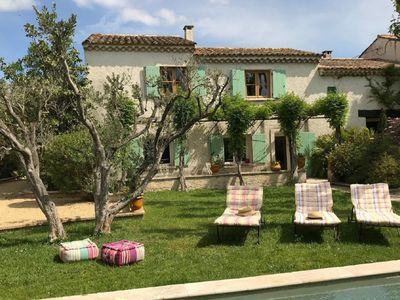 Photo for Beautiful Mas near Arles with private pool, romantic patio and yoga studio.