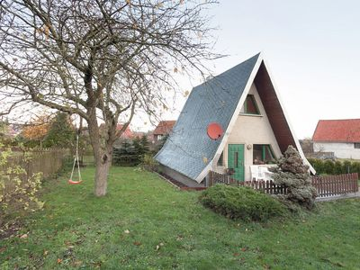 Photo for Cosy A-frame house in the Harz with stove, private terrace and garden