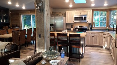 Kitchen / Dining area seats 15 easily with everything you need for your vacation