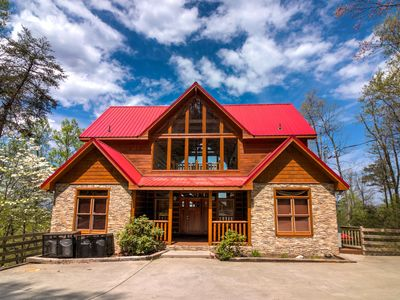 Photo for This luxury cabin offers up some of the best views you could ask for of the Great Smoky Mountains