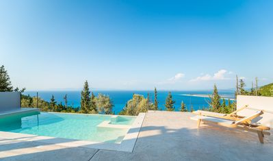 Photo for Brand New Ionion Theasis Villa, amazing sea view, private pool & Jacuzzi