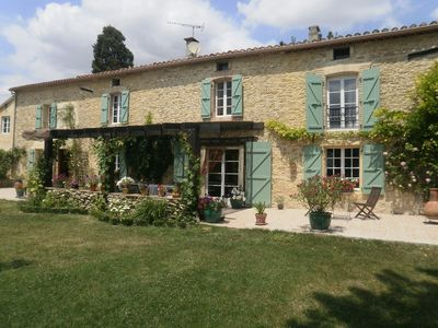 Photo for LAURAGAIS STONE FARMHOUSE NEAR CARCASSONNE WITH POOL AND GARDEN PRIVATE PARKING