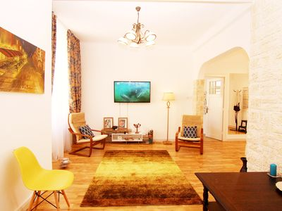 Photo for Unusually spacious, luxury tow bedroom apartment in city's heart Old Town.
