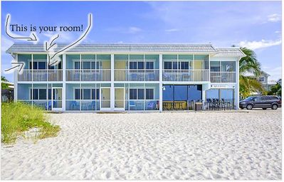 Photo for 1br Beachfront Unit - Literally on the beach, pool, hot tub, unbeatable location