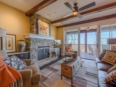 Photo for 2BR Luxury Condo in Blue Ridge Mtn Club near Blowing Rock, Mountain Views, King Suite and lots more!