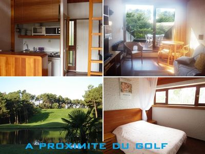 Photo for Apartment 4 people with view on the golf of Lacanau Ocean