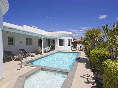 Photo for Villa Marcus is uniquely designed all on one level with 2 sitting rooms, 3 bedrooms and 2 bathrooms.