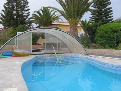 Photo for Cozy apartment with ocean view and heated pool in the south of Tenerife