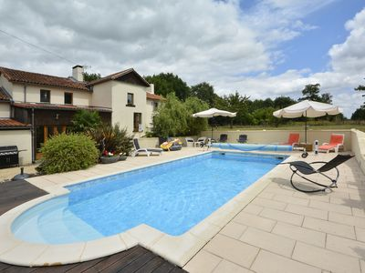 Photo for Luxury 3 Bedroom Gite in rural setting with heated swimming pool