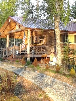 Photo for Alaskan Log Cabin on Lake!