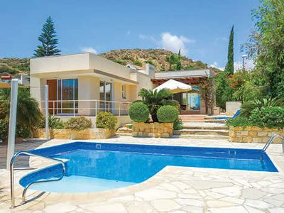 Photo for Elevated villa with wonderful sea views - choice of tavernas close by in the charming local villages