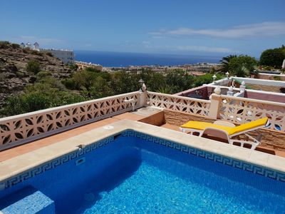 Photo for Villa Roque del Conde 5, heated private swimming pool, terrace, sea view, Wifi