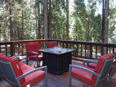 Photo for May Savings Discounts 3bd 2.5ba Hot Tub Loft Pets ok Huge deck large redwood lot