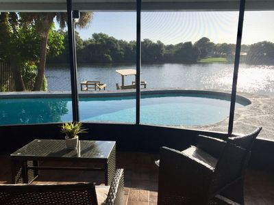 Photo for The Perfect Relaxing Pool House on the Lake.  Private and Centrally Located.
